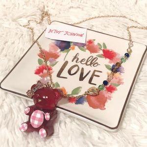 NWT Betsey Johnson Gummy Bear pendant necklace